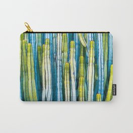 Colorful cactus painting Carry-All Pouch