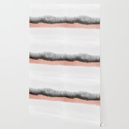 rose gold and grey watercolor ombre Wallpaper