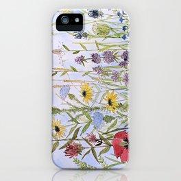 Wildflower Garden Watercolor Flower Illustration iPhone Case