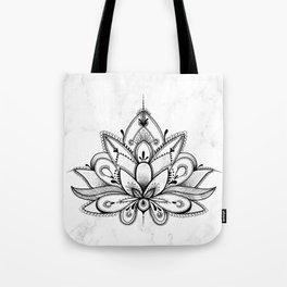 Boho Lotus Tote Bag