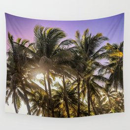 PURPLE AND GOLD SKIES Wall Tapestry