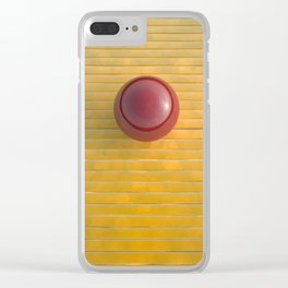 red on yellow Clear iPhone Case