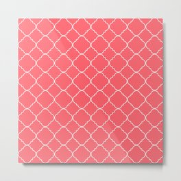 Coral Red Moroccan Metal Print