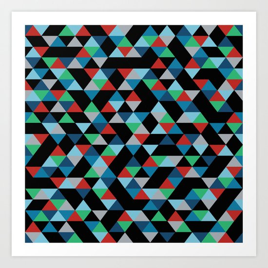 Triangles 4B Art Print