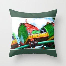 Chinese Dragon Ride 4 Throw Pillow