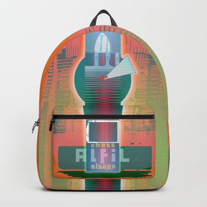 ALFIL / White / Bishop / Chess Backpack
