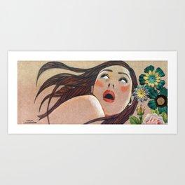 Catalina Sorprendida / Catalina Surprised Art Print