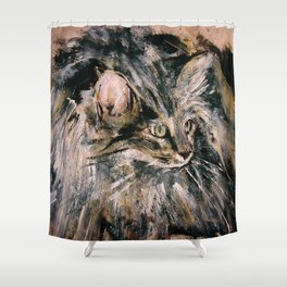 Norwegian Forest Cat Shower Curtain