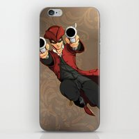 dick iPhone & iPod Skins featuring Dick Turpin by Eco Comics