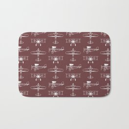 Biplanes // Tosca Red Bath Mat