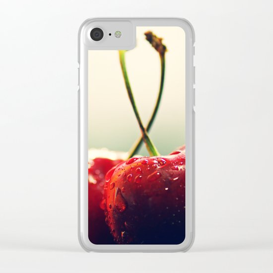 Gourmet cherry Clear iPhone Case