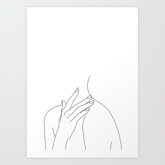 Female Body Line Drawing Danna Art Print By Thecolourstudy Society6