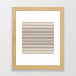 Beige Stripes Framed Art Print