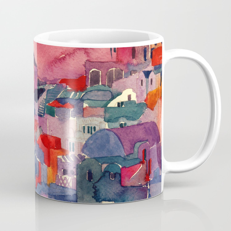Sunset On Santorini Coffee Mug By Takmaj Society6