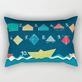Paper boat - How to Rectangular Pillow