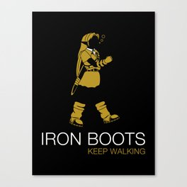 Iron Boots Canvas Print