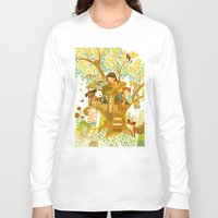 beastie boys Long Sleeve T-shirts featuring Our House In the Woods by Teagan White