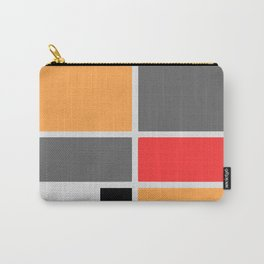 Mondrianista orange red black and gray Carry-All Pouch