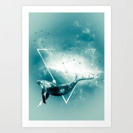 The Whale - Blu Art Print