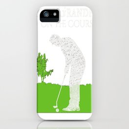 Mens Best Grandpa On The Course Golf Shirts for Men Gift for Dad iPhone Case