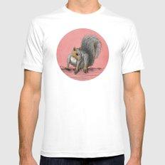 Squirrel MEDIUM Mens Fitted Tee White