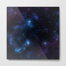 Galaxy and Stars Metal Print