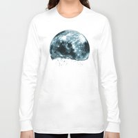 lunar Long Sleeve T-shirts featuring lunar water by sustici