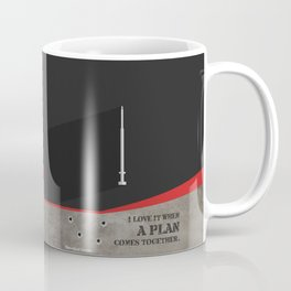 Lab No. 4 - I Love It Hannibal Smith's quotes Poster Coffee Mug