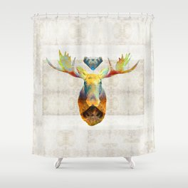 Mystic Moose Art By Sharon Cummings Shower Curtain