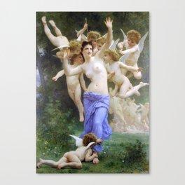 The Invasion (The Wasp's Nest) Le Guêpier by William-Adolphe Bouguereau Canvas Print