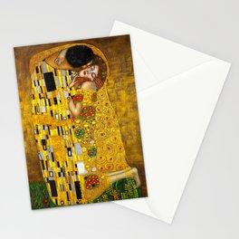 The Kiss by Gustav Klimt Stationery Cards