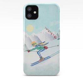 Skiing Girl iPhone Case