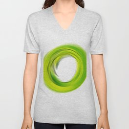Soft Green Enso - Abstract Art By Sharon Cummings Unisex V-Neck