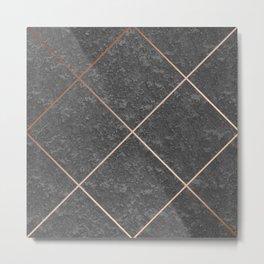 Copper & Concrete 01 Metal Print