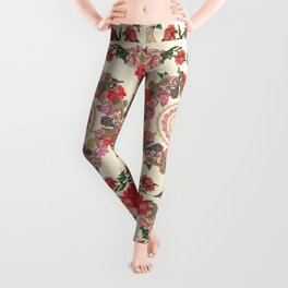 Sloth Yoga Floral Medallion Leggings
