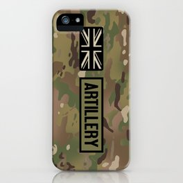 British Flag: Artillery (Camo) iPhone Case