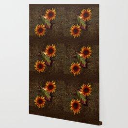 Sunflowers Vintage # Wallpaper