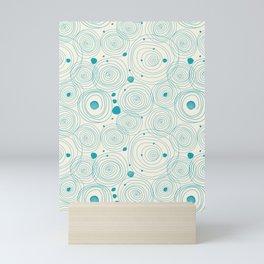 Blue Scribbles Pattern 04 Mini Art Print