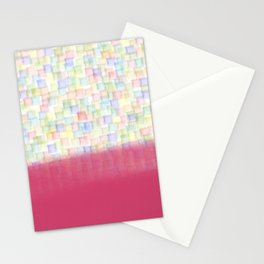 AbstracT squares Stationery Cards