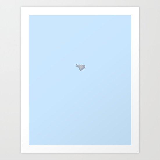 Cloud on Blue 4 Art Print