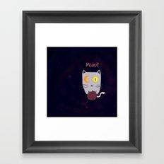 Miau? Framed Art Print
