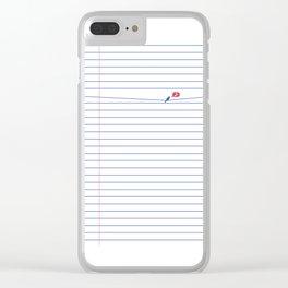 BIRD NOTE Clear iPhone Case