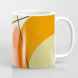 mid century geometric shapes painted abstract III Coffee Mug
