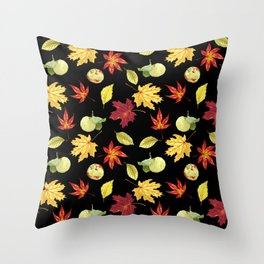 Autumn Falling Leaves Throw Pillow