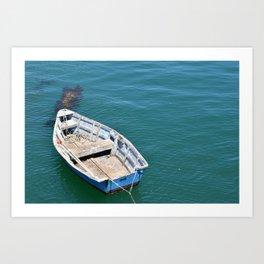 Boat in sea Art Print