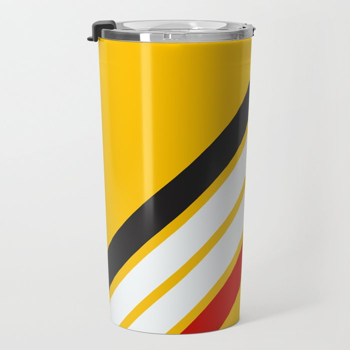 Oldschool Retro Stripes Travel Mug