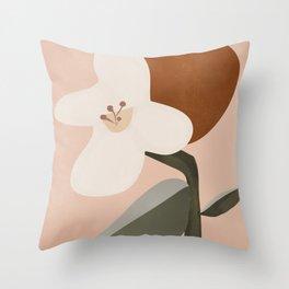 Abstract Minimal Art / Flower 2 Throw Pillow