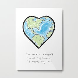 Worldly Love Metal Print