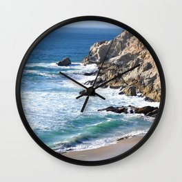CALIFORNIA COAST - BLUE OCEAN Wall Clock