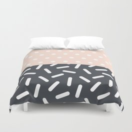 Random Geo - Dots and Dashes Duvet Cover